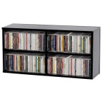 Glorious CD Box 180 Black - Shelf stand for CD's