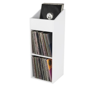 Glorious Record Rack 330 White - stand shelf for vinyls