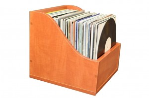 Stand Case Record Box 120 EXIMIUS laminated board PEARWOOD