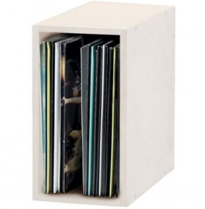 Glorious Record Box White 55 vinyls - Shelf stand binder for vinyls