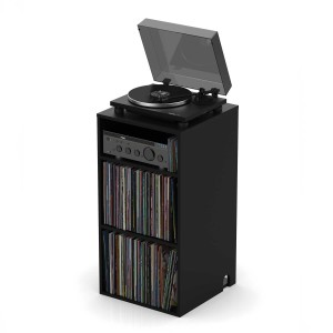 "Glorious Modular Mix Rack Black -  Shelf, Cabinet, Furniture, Stand, Binder, Organiser for vinyls 12"" i 7""and turntable"