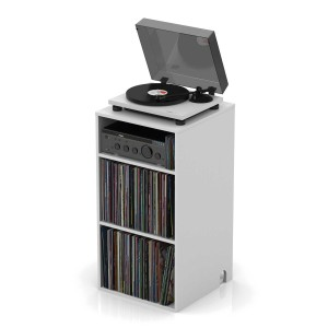 "Glorious Modular Mix Rack White - Shelf, Cabinet, Rack, Stand, Binder for vinyl records / vinyl 12"" and 7"" and turntable, Organizer"