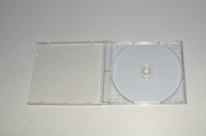 Pudełko Jewel Case CD box clear na 1 x CD lub DVD z bezbarwną tacką / bezbarwny tray
