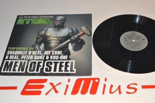 Shaquille O'Neal, Ice Cube, B Real, Peter Gunz & KRS-One - Men Of Steel lp.jpg